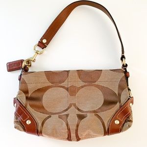 Coach handbag: brown canvas and leather, 10 x 6""